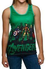 Avengers Green Women's Tank Top T-Shirt Marvel Comics - Juniors L - New w/Tags!