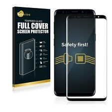 FULL Cover Samsung Galaxy s9 PLUS PROTEZIONE carri armati Pellicola in Vetro 9h Pellicola carro armato nero