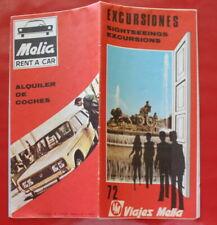 1971 - VIAJES MELIA / Excursiones, sightseeings excursions / Dépliant tourisme
