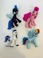 "Lot of 4 My Little Pony 3.5"" Poseable Ponies Assorted"
