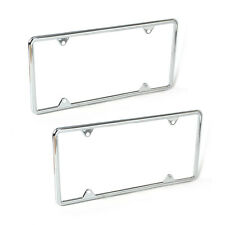 2* Zinc Alloy License Plate Frame metal Universal for Almost All NA Cars Trucks
