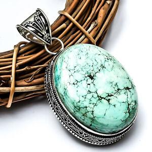 Wonderful Blue Turquoise  Handmade Ethnic Style Jewelry Pendant 2.26 UL