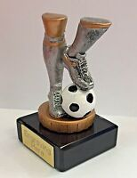 Football Trophy - Silver with Marble + FREE Engraving + FREE P&P