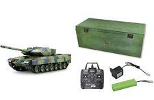 RC tanques leopard 2a6 disparo, humo, Sound 2.4 GHz 68cm amewi Edition 23077