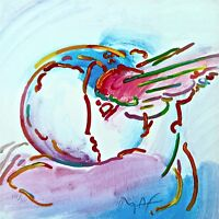 I Love the World (Retro Suite II), Limited Ed Silkscreen, Peter Max-SIGNED w/COA