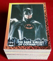 BATMAN RETURNS - COMPLETE BASE SET (88 Cards) - Topps (UK) - 1992