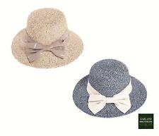 Ladies Packable Sun Hat  Braided Cloche Hat Size Adjustable Band Big Brim UPF