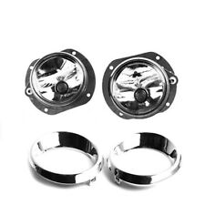 Front Bumper Fog Light Lamp w/Cover Ring Fit For Mercedes W164 R171 W204 CL550