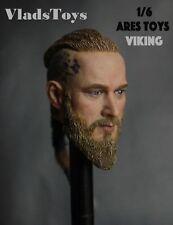 Ares Toys 1/6 Scale Travis Fimmel Vikings Ragnar Head Sculpt RMAT-001 USA Dealer