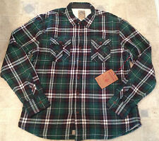 True Religion Mens FLANNEL PLAID THERMAL LINING Shirt Green Size S NEW
