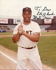 Monte Irvin Autograph w/COA Giants Baseball Negro League HOFER 8x10ColorPhoto