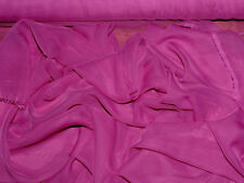 """Chiffon Fabric Sheer Deep Berry Polyester 60"""" Bty"""