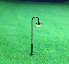 S527 - 10 pcs Streetlights 4,5cm with LED 12-19V Arc Lamps Parking Lights