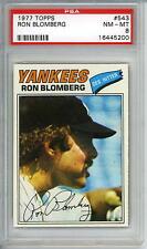 1977 Topps # 543 Ron Blomberg Yankees PSA 8