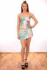 multi coloured pastel mermaid sequin silk mini dress long summer top RIVERISLAND