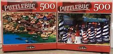 New (2) Puzzlebug 500 Piece Jigsaw Puzzle Difficult Popeye Village , Lighthouses