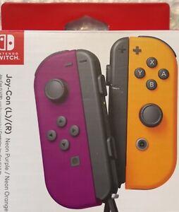 Nintendo Switch Joy Con Wireless Controller Official Neon Purple Orange