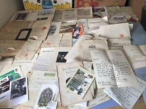 C,Old Bottom Of Box Mix  100 Items Documents Ephemera Etc   Mixed Some 100+ Year