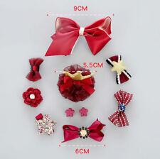 10Pcs/Set Kids Baby Girl Bow Hair Clips Flower Barrette Pins Gift Alligator Clip