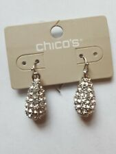 Chico's Beaded Pave Faux-Hematite Drop Earrings