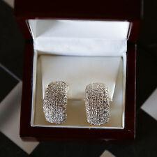 DIAMOND HOOP EARRINGS PAVE 4.25 CARATS GORGEOUS!!  $9350.00