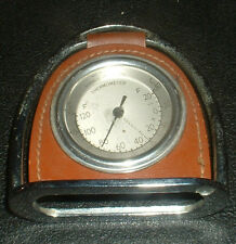 VINTAGE HORSESHOE AND REAL HIDE THERMOMETER