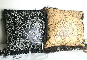 Western Pillow 4 Styles Cowboy Decor Fringe Leather Cowhide Embroidery Fabric