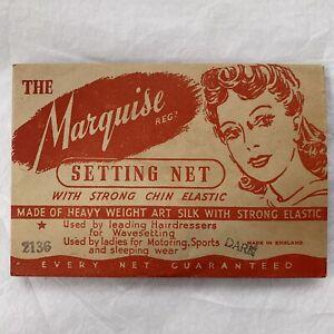 1940s Hair Net Silk Original Packaging Setting Net The Marquise Reg 6 Available