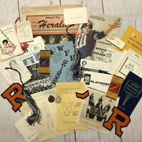 Antique 1960s Whitefish Bay High School WBHS Wisconsin WI Paper Ephemera Lot
