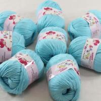 DK Baby Cashmere Silk Wool Crochet Children Hand knit Scarf Yarn 8x50gr Balls 11