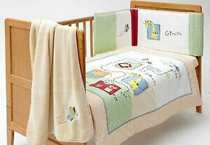 Baroo My Zoo Baby Cot Bedding Bale (Pack of 4 Pieces)