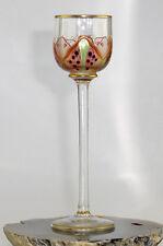 Likörglas um 1900 Jugendstil ev. Theresienthal od. Meyr`s Neffe Emailmalerei