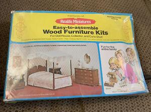 Realife Miniatures Wood Furniture Kit Heritage Series Bedroom 188 Sealed!!