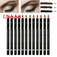 12x Waterproof Long Lasting Matte Eyebrow Makeup Pencil Eye Brow Tattoo Pen Set
