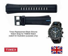 Genuine Timex T49859 Silicone Watch Strap Band. Timex E-tide Intelligent Quartz