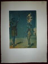 André Lambert gravure originale art déco illustrateur costumes théâtre