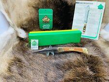 1978 Puma 975 Trail Boss Knife With Jacaranda Handles Green / Yellow Box Mint A