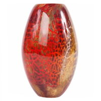 "Beautiful Luxury Lane 9.5"" Tall Hand Blown Thick Art Glass Vase"