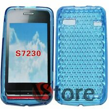 Cover Custodia Per Samsung WAVE S7230 Azzurro Gel Silcone TPU