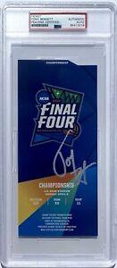 TONY BENNETT SIGNED VIRGINIA 2019 CHAMPIONSHIP BASKETBALL TICKET PSA/DNA