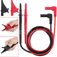 Electrical Multimeter Probes Test Leads With M4 Alligator Clips Banana Plug Set