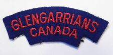 CANADIAN ARMED FORCES GLENGARRIANS CANADA embroidered patch shoulder FLASH