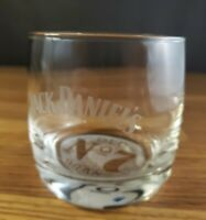 Jack Daniels Old No 7 Etched Whiskey Rocks Drinking Glass Round Bottom