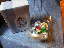 Nib Precious Moments Christmas Ornament 712018 Girl with Snowman