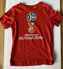 FIFA World Cup Russia 2018 Adidas T Shirt Youth M Red pre-owned