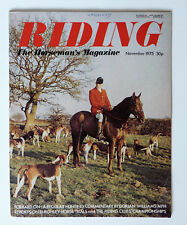 Vintage RIDING Magazine: Nov 1975, Burghley Horse Trials Number.