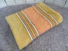 Vtg Faribo Retro aztec indian pure wool blanket coverlet 60 x 82
