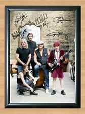 ACDC AC DC Band Black Ice world Bon Scott Signed Autographed A4 Print Poster CD