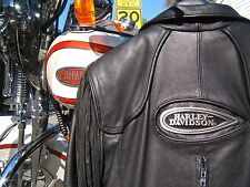 HARLEY DAVIDSON HERITAGE SPRINGER LEATHER JACKET HAWK WOMENS MEDIUM