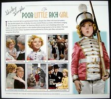 SHIRLEY TEMPLE STAMPS SHEET OF 6 MNH THE POOR LITTLE RICH GIRL LIBERIA MOVIE